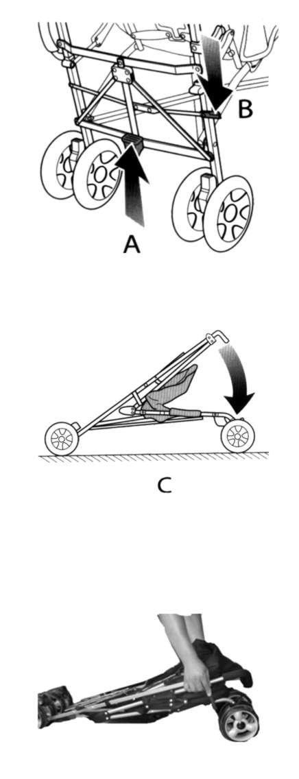 механизм складывания коляски-трости